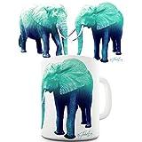 Trenzado Envy azul elefantes de cerámica taza divertida