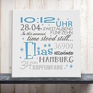 Geburtsbild Geburtsdatenbild Geburtsanzeige Elias