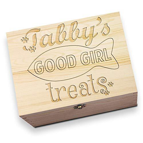 behandelt personalisierbar Holz Christmas Eve Box ()