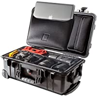 Peli 1510SC, Studio Koffer mit Divider Set + LOC LID ORG, Schwarz