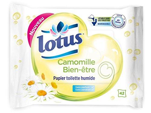 Lotus Papier Toilette Humide Camomille Bien-être 42 feuilles - Lot de 6