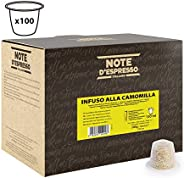 Note d'Espresso Chamomile infusion Capsules 2g x 100 Capsules Exclusively Compatible with Nespresso* machines