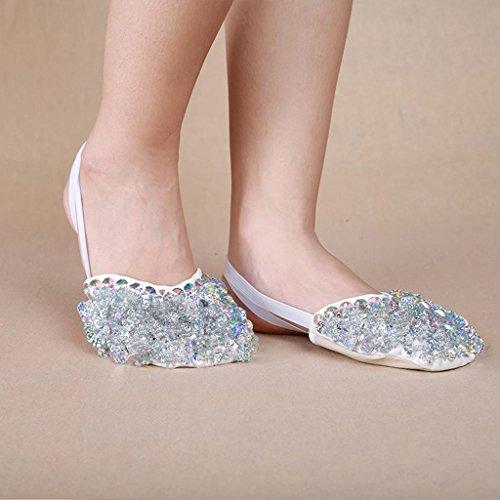 Wgwioo Bauch Ballett Tanz Schuhe Kostüm Geschenk Für Big Party Weihnachten Praxis Sequins Half Silver