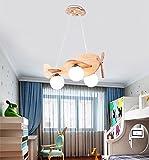 $Beleuchtung Holz Pendelleuchte Kinderzimmer Kronleuchter Kreatives Restaurant Flugzeug Lichter Romantisches Zimmer Beleuchtung Weißes Licht Innenleuchten