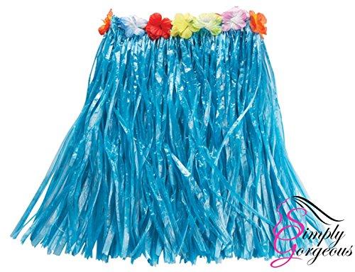Mädchen Hawaii- Gras- Rock-Blumen- Hula Lei Garland Kostüm - (Für Kostüme Hawaii Mädchen)