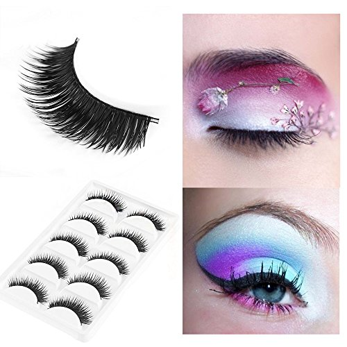5 Pairs New Natural Long Thick False Fake Eyelashes Makeup Beauty Party False Eye Lashes