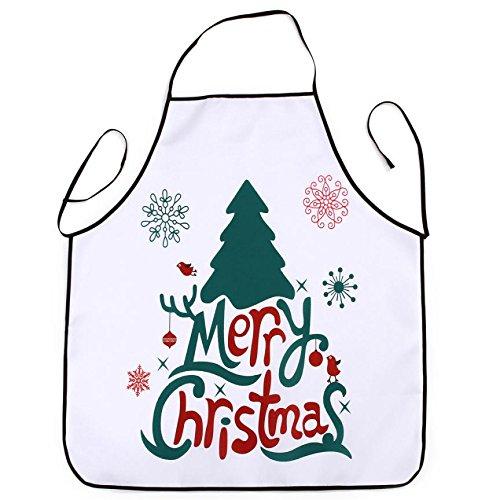 Lqchl 1Pcs 70*80Cm Décoration De Noël Tablier Imperméable En Polyester Pour Le Dîner De Noël Cuisine Tablier Partie Décoration D,F