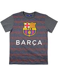 FC Barcelone - Tee shirt FC Barca officiel enfant gris Taille de 8 à 13 ans - 8 ans,10 ans,12 ans,11 ans,9 ans,13 ans