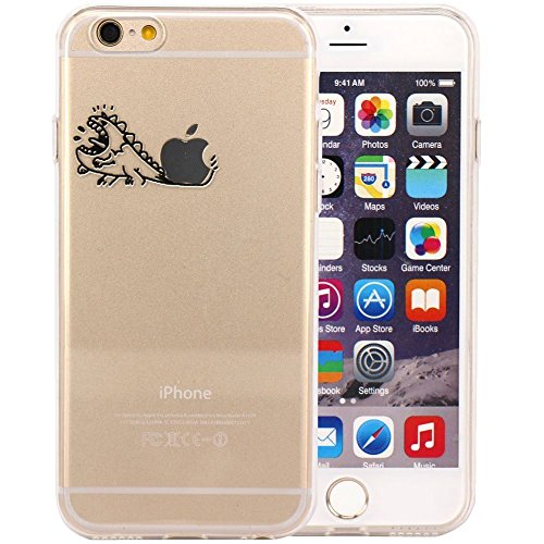 vanki® iPhone 6/6s hülle Tasten 3D Schutzhülle Clear Case Cover Bumper TPU Silikon Handyhülle für iPhone 6/6s (4,7 Zoll) (Mustache) Diansaur