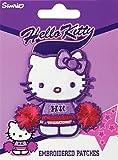 Prym Eisen auf Motiv Aufnäher Hello Kitty Blumen Bestickt–jedes