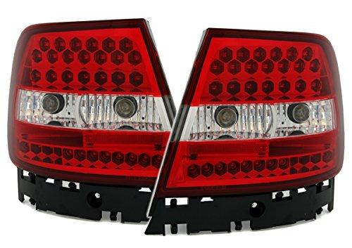 LED Rückleuchten Set in Klarglas Rot Weiß (Led Eagle Eye Gelb)