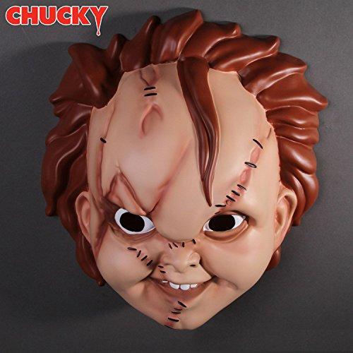Child's Plays Chucky Maske für Erwachsene in Universalgröße aus (Chucky Kostüm Maske)