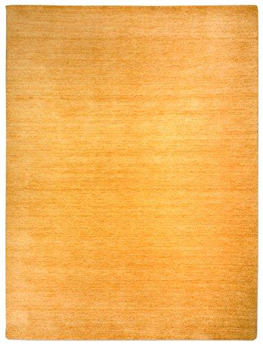Morgenland Gabbeh Teppich Gold UNI Einfarbig Handgewebt Schurwolle 60 x 40 cm Fußmatte -