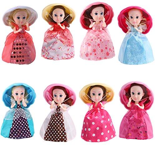 STOBOK Cupcake überraschung duftende Prinzessin Puppe magisches Geschenk Spielzeug Mini Cupcake Prinzessin Puppe (zufällige Farbe)