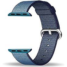 Apple Watch Correa 42mm, ZRO Premium Nylon Tejida Reemplazo de reloj Inteligente Banda de reloj con ajustable Hebilla para la nueva Apple iWatch Series 2/ Series 1