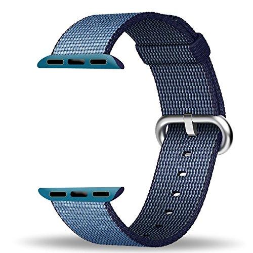 Apple-Watch-Correa-42mm-ZRO-Premium-Nylon-Tejida-Reemplazo-de-reloj-Inteligente-Banda-de-reloj-con-ajustable-Hebilla-para-la-nueva-Apple-iWatch-Series-2-Series-1