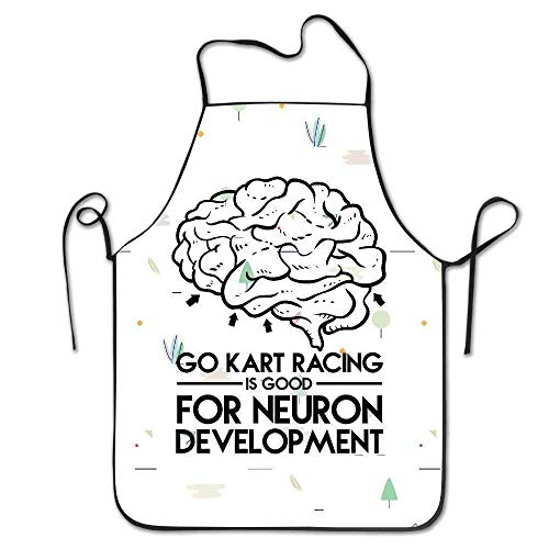 ghfghgfghnf Best Gift Go Kart Racing is Good for Neuron Development BBQ Apron (Camo Racing)