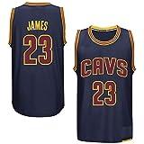 Apparel online Herren Basketball-Trikot Cleveland Cavaliers King 23 Lebron James Navy Player Swingman - m