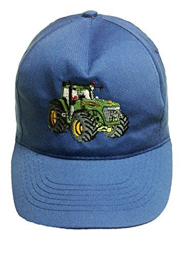 Zintgraf Jungen Cap Baseball Kappe Traktor Stickerei Grüner Trecker (Azurblau)