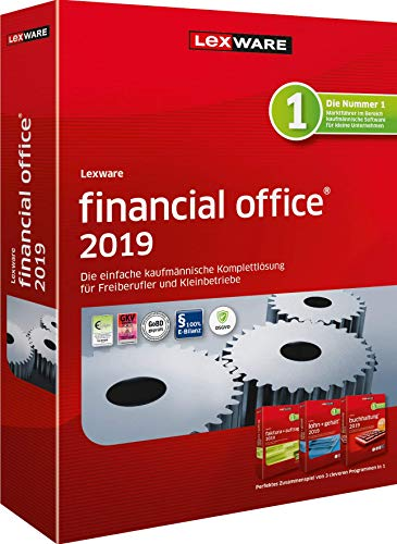 Lexware financial office 2019|basis-Version Minibox (Jahreslizenz)|Einfache kaufmännische Komplett-Lösung für Freiberufler, Selbständige und Kleinunternehmen|Kompatibel mit Windows 7 oder aktueller
