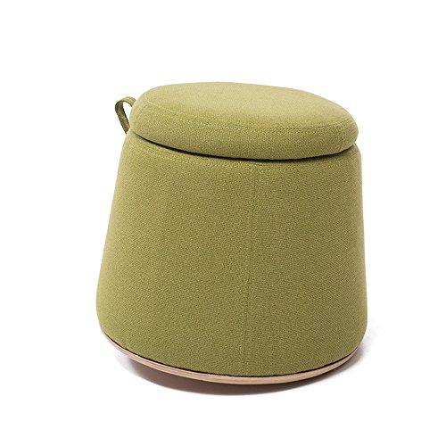 DEO Bureau d'ordinateur Bois massif Tabouret Tabouret Tabouret de canapé Peut être stocké 40 cm * 40 cm * 38 cm durable (Couleur : Vert)