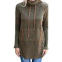 Beikoard Damen Pullover Herbst und Winter Lässiger Hoodie Frauen Solides Stand Sweatshirt Frauen Kordelzug Pullover Top Bluse