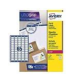 Avery L7651 Étiquettes autocollantes pour adresse postale (Étiquettes à code barres FBA), imprimantes laser, 65 étiquettes par feuille A4, 6500 étiquettes, UltraGrip...