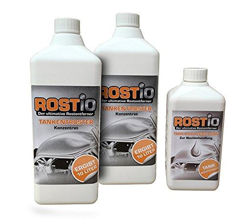 2 Liter Rostio Tankentroster + 500ml Tank-Schutzemulsion Tankversiegelung Set - Tankentrostung leicht gemacht (2 Liter Tank)