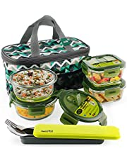 Home Puff Borosilicate Glass Lunch Box -Microwavable