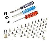 Komplettes Schrauben Set Kit Ersatz für alle Schrauben für iPhone 6 / 6 Plus mit jeweils 2 x unter Seite Pentalobe Schraube Weiss / Schwarz / Gold und 3 x Schraubenzieher MMOBIEL