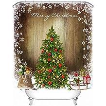 Duschvorhang Weihnachtsbaum 3D Digitaldruck Wasserdicht Mehltau  Duschvorhang, Schattierung Tuch, Trennvorhänge, Dekorative Vorhänge,