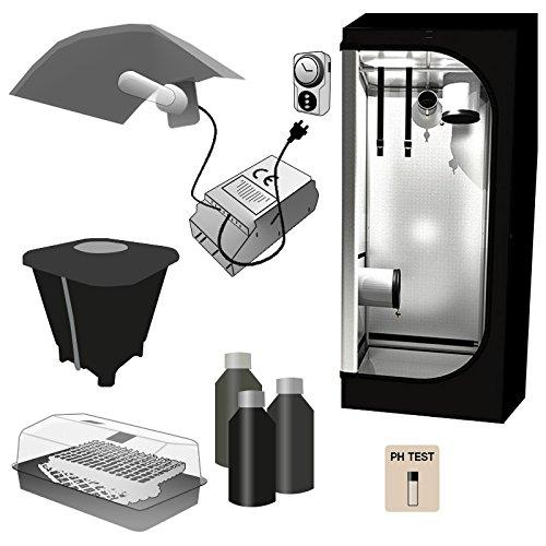 Kit Mini Growbox Einrichtung-Gewächshaus 60x 60x 140