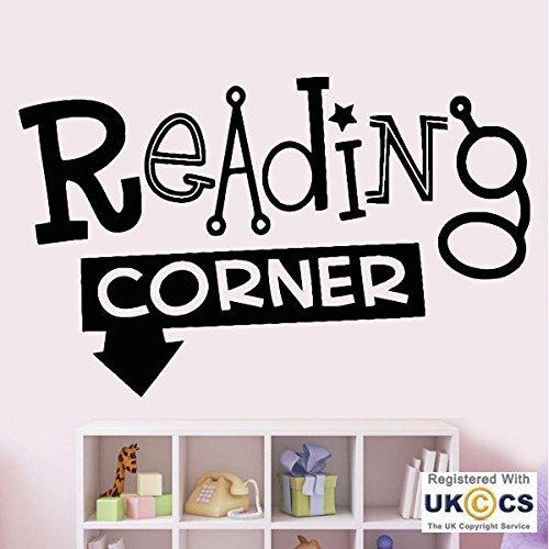 Leseecke Bücher Kindergarten-Mädchen-Jungen-Schlafzimmer-Wand-Kunst-Aufkleber-Abziehbilder Vinyl Schlafzimmer Jungen Mädchen Kinder Erwachsene Heim Zitate Küche Badezimmer Wandaufkleber (Erwachsenen-schlafzimmer-wand-abziehbilder)