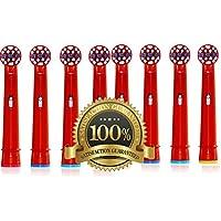 Dr Kao® Paquete de 8 cabezales de cepillo de dientes para niños con cabezales de cepillo de dientes eléctrico de nailon Dupont para niños estándar para cabezales de cepillo de dientes eléctrico para niños 8 unidades EB-10A (8)