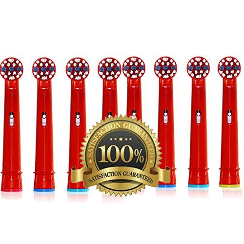 Drkao Clean Aufsteckbürsten für Oral B Kinder Elektrische Zahnbürstenköpfe für Braun Oral B Elektrische Zahnbürste Kinder Aufsteckbürsten Köpfe für Oral-B kids Aus Hochwertigem Dupont-Nylon, 8 Stück - Power Zahnbürste 1 Pinsel