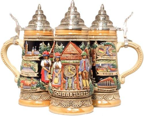 Cuckoo Clock Parts (Pinnacle Black Forest Cuckoo Clock German Beer Stein .25L One Mug Made in Germany New)