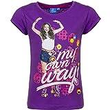 Disney Soy Luna - Maglia Maglietta T-shirt a Maniche Corte - 100% Cototne - Bambina - Novità Prodotto Originale 1814EQ [Viola - 6 anni - 116 cm]