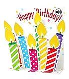 SOUND Pop Up 3D Karte Geburtstag Musik Happy Birthday Kerzen 18x13cm