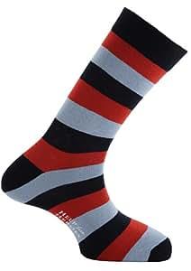 Horizon Help for Heroes Short Dress Sock - Navy/Red/Sky Stripe, Size 6-12