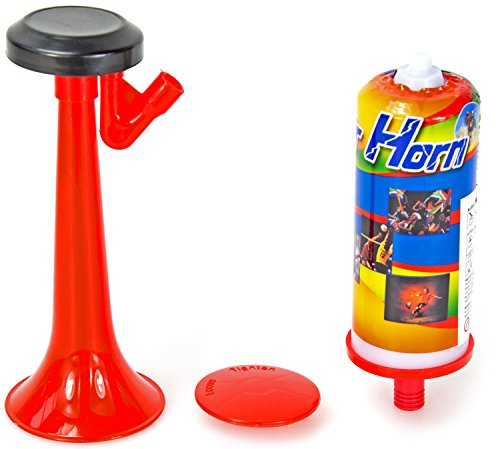 Nick and Ben Fußball-Fanfare Fanfare Air-Horn Tröte Druckluft-Fanfare Horn Signal-Horn Sirene Hupe Air-Blaster 38 cm