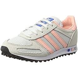 Adidas la Trainer, Zapatilla de Deporte Bajo El Cuello para Mujer, Blanco (Vintage White/Haze Coral/Clear Brown), 36 EU