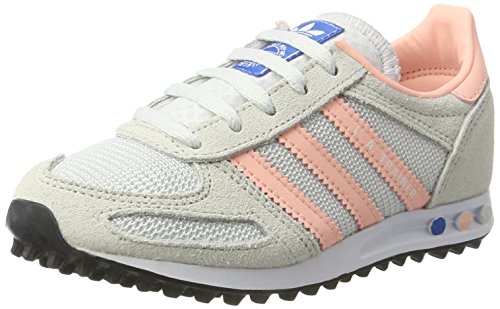 adidas Unisex-Kinder La Trainer Sneakers Weiß (Vintage White/Haze Coral/Clear Brown)