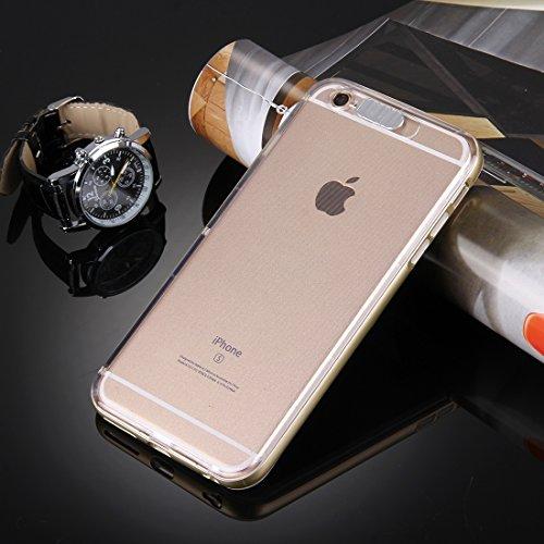 iPhone Case Cover Pour iPhone 6 Plus & 6s Plus Slide Slice Design Plastique amovible Flamme Transparent TPU Housse de protection avec appel entrant Flash LED clignotant ( Color : Rose gold ) Gold