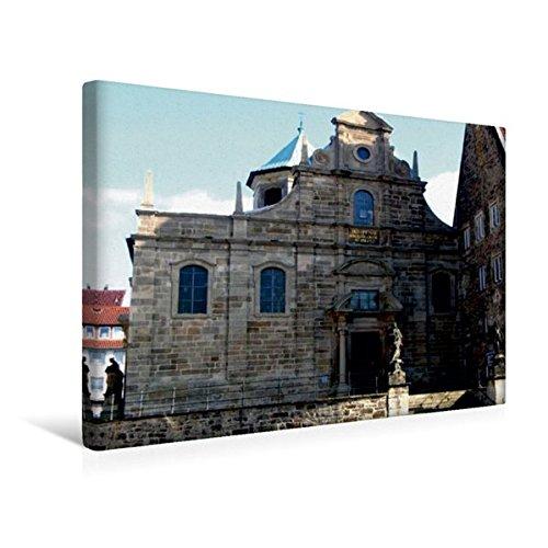 Calvendo Premium Textil-Leinwand 45 cm x 30 cm Quer, Die katholische Kirche Zum Heiligen Kreuz...