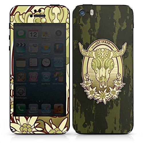 Apple iPhone SE Case Skin Sticker aus Vinyl-Folie Aufkleber Tattoo Indianer Cowboy DesignSkins® glänzend