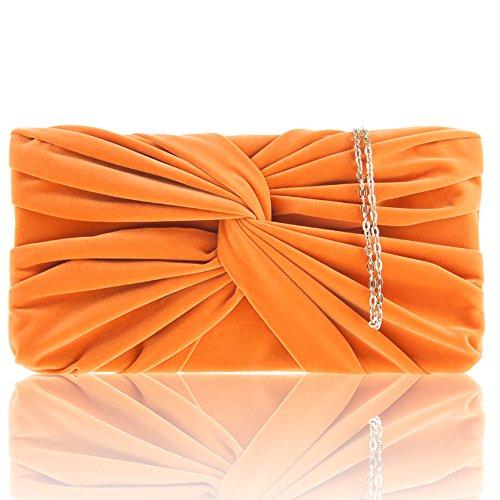 Zarla-Custodia in finta pelle scamosciata, da donna, per abiti da sera, da donna, per abiti da sera, da ragazza Arancione (arancione)