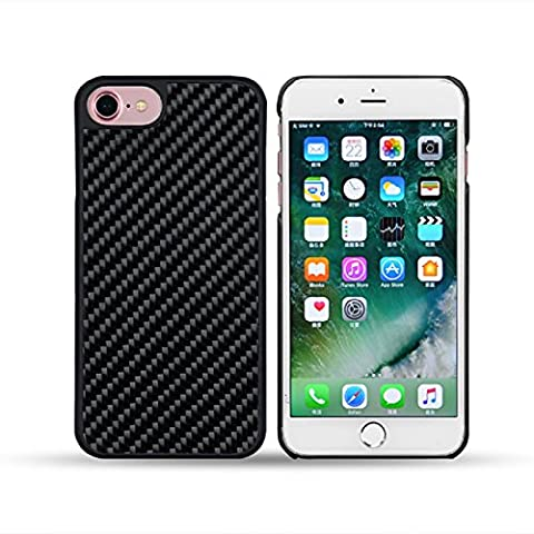 Coque pour smartphone iPhone 7 7s en Fibre de Carbon + PC 100% Real Carbon Fiber+PC
