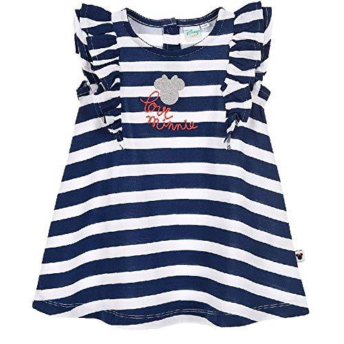 Scamiciata vestito minnie mouse disney neonata bambina sun city taglie 12/36 mesi - se0225blu