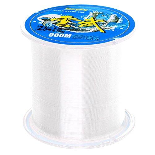 Sicai-Nylon-Angelschnur, 500m, Monofilament, klare Nylondraht-Angelschnur, ca. 0,26mm im Durchmesser
