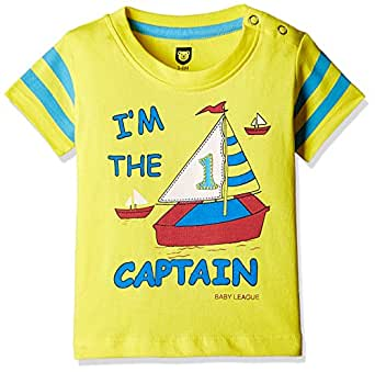612 League Baby Boys' T-Shirt (BLS16I35002_Yellow_18-24 Months)